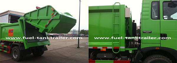 8500KGS 120HP Garbage Compactor Truck 1:3 Compressed Quotient High Reliability