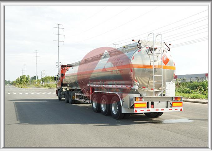 46000 L Full Volume Fuel Tank Trailer , High End Fuel Transfer Trailer