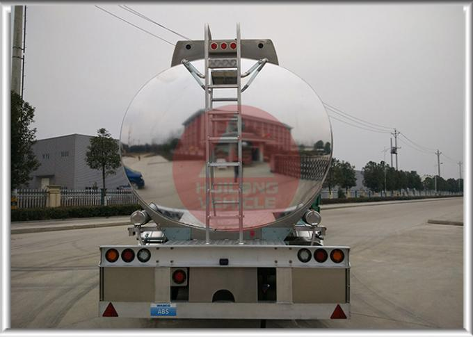 Dot Standard  Mobile Fuel Trailers Mirror Surface Aluminum Alloy Tank Body