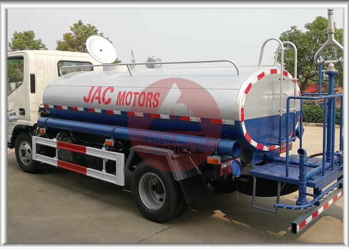 Water Bowser Water Tank Truck Anticorrosion Rust Protection With JAC Chassis