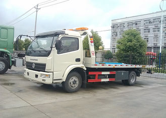 China 4X2 Flatbed Tow Truck 160HP 5300mm Platform Length Multi - Functional supplier