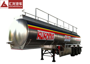China Oil Transport 5000 Gallon Fuel Tank Trailer , 3 Axles Fuel Transfer Tank Trailer 13T Axle Bearing supplier