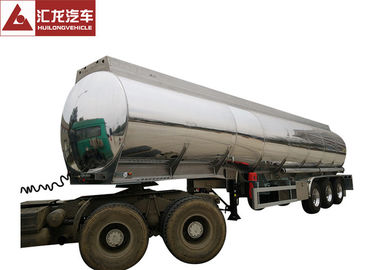 China Dot Standard  Mobile Fuel Trailers Mirror Surface Aluminum Alloy Tank Body supplier