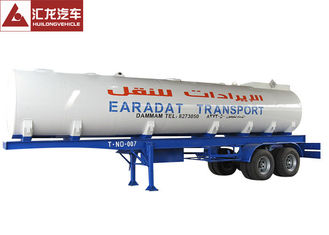 China Stainless Steel Milk Tank Trailer , Water Tanker Truck Trailer 40000l Multifunctional supplier