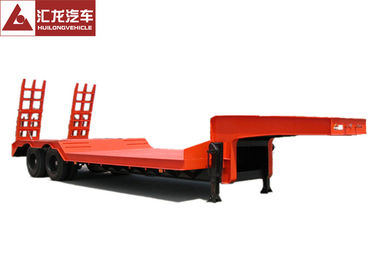 China Anti - Shock Tyre Heavy Duty Trailer Concave Low Bed Trailer  Dual Line Brake System supplier