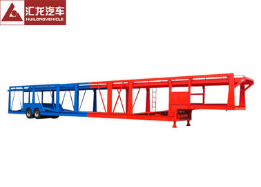 China Rear Ladder Car Transporter Trailer Customized Design 16100x3000x4000mm Overall Skeletal Structure supplier