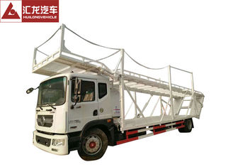 China Double Layer Car Carrier Trailer , Vehicle Carrier Trailer Hydraulic Lifting System supplier