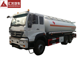 China 6x4 Fuel Oil Truck , Safe Driving Gasoline Delivery Truck Full Air Suspension System supplier