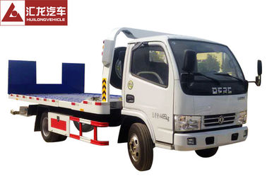 China Hydraulic Ramp Roll Off Tow Truck , Dongfeng Car Carrier Tow Truck Diesel Engine supplier