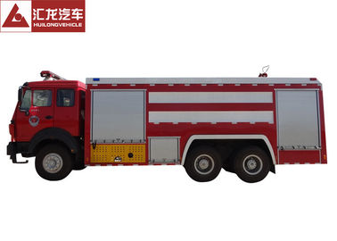 China Northern Benz Fire Fighting Vehicle , Large Fire Truck Red Color Large Volume supplier