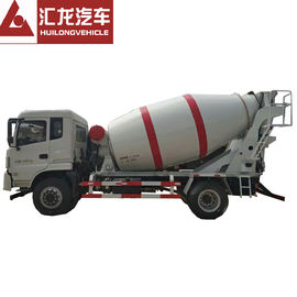 China Professional Small Concrete Mixer Truck Self Loading HOWO 4*2 3 CBM White Color supplier