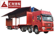 Drop Deck Wingspan Curtain Semi Trailer High Loading And Unloading Efficiency
