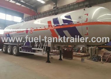 China Air Suspension 3 Axle LPG Tank Trailer , Lpg Transport Trailers Big Effective Capacity distributor