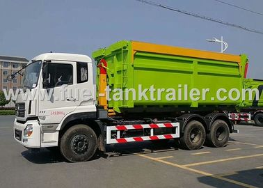 China Hook Arm Roll Back Garbage Compactor Truck For 15-20 CBM Garbage Container distributor