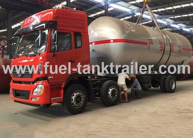 China Water Cooled Red Color 6x4 Lpg Tanker Trailer 2.22MPa Hydrostatic Pressure distributor