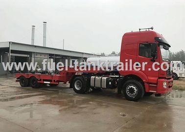 China Dongfeng 2 Axle Heavy Duty Trailer , Semi Low Bed Trailer 4X2 Wheel Mode distributor