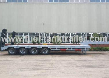 China High End 80 Ton 4 Axle Low Bed Semi Trailer Non - Liftable Air Suspension distributor