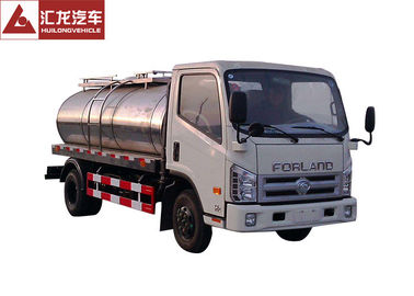China Forland Mini Milk Tank Trailer Euro Ii Emission With Air Brake Auto - Cleaning distributor