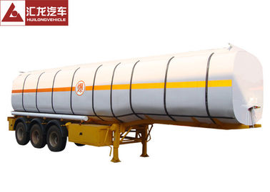 China Monoblock Shape Chemical Tank Trailer Heavy Duty Carbon Steel Non - Leakage distributor
