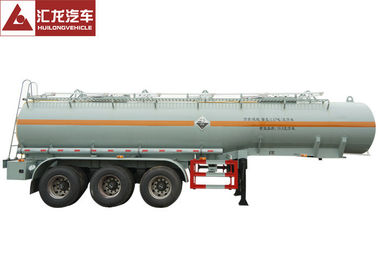 China Sulfuric Acid Chemical Tank Trailer , Tank Semi Trailer With Plastic Liner Inside distributor