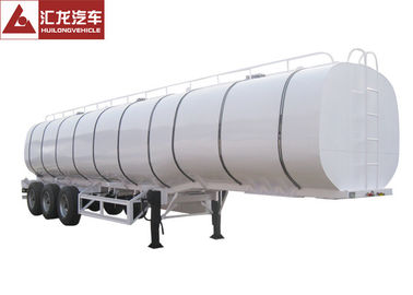 China Double Layer Chemical Tanker Truck Thermal Insulation 3 Axle  40000l Net Capacity distributor