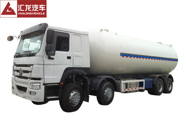 HOWO Chassis LPG Semi Trailer Dual Layer Structure Turbo Charged Engine