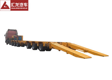 China Multi Axle Steering Axle Heavy Duty Trailer Hydraulic Suspension low bed trailer distributor