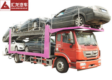 China 336 Horsepower Car Carrier Trailer , Durable Central Axle Car Holder Trailer distributor