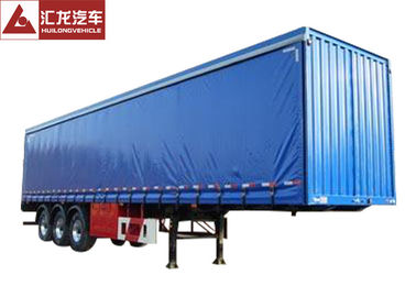 China Blue Color Curtain Side Flatbed PVC Tarpaulin High Strength Steel Structure High Strength Cord Fabric distributor
