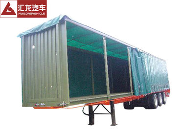 China Aluminum Rails Curtain Side Trailer  π Hook Shape Water - Proof Covering Material distributor