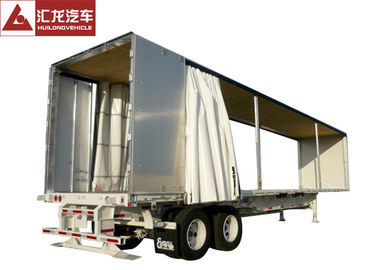 China PVC Tarpaulin Curtain Side Trailer , Curtain Side Semi Trailer With Sloping Floor distributor