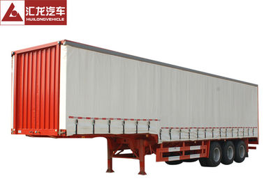 China Flatbed Baseplate Curtain Side Trailer 6 Channels Braking High Fixity distributor