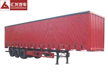 China Heavy Duty Tarp Side Trailers  Anti - Corrosive  6mm Middle Flange Large Open Area distributor