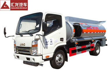 JAC Fuel Oil Truck  6000l Container Capacity 280hp Motor Power Seamless Tank