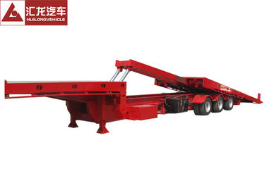 China Red Color Flatbed Tow Truck Hydraulic System Control , Flat Deck Tow Truck Easy Installation distributor