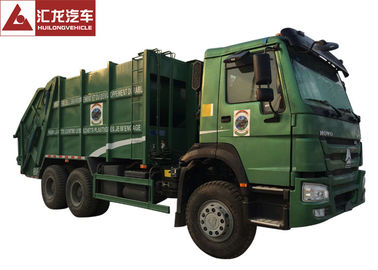 China Turbo Chargingwaste Compactor Truck , 12SBM Garbage Truck With Compact distributor